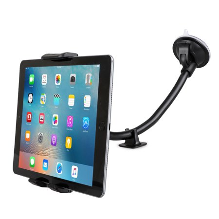 "Car Tablet Mount Holder [13"" Gooseneck Extension], Long Arm Car Windshield Phone Holder Suction Cup Mount for iPad Mini/Air, Samsung Galaxy Tab S10 S10e, All 4 -11 inch Smartphones & Tablet"