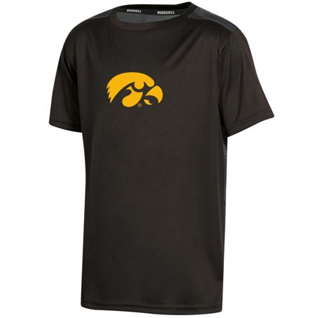 Youth Russell Black Iowa Hawkeyes Color Block