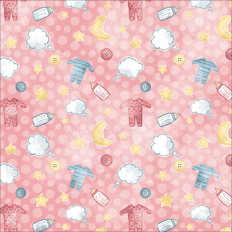 Baby Paper 12 Inch X 12 Inch-Jammies