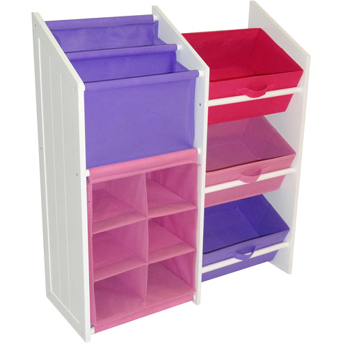 RiverRidge Kid's Super Storage with Pastel Bins