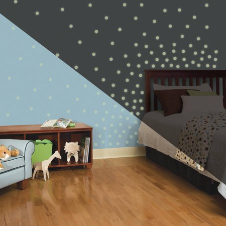 RoomMates Glow in the Dark Dots Peel and Stick Wall Decals