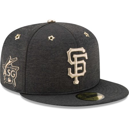Men's New Era Heathered Black San Francisco Giants 2017 MLB All-Star Game Side Patch 59FIFTY Fitted Hat