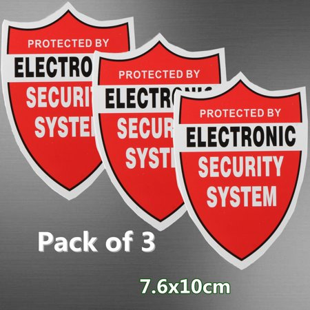 3 Pack SECURITY SYSTEM DECALS Sticker Decal Video Warning CCTV Camera Home - Cctv Stickers