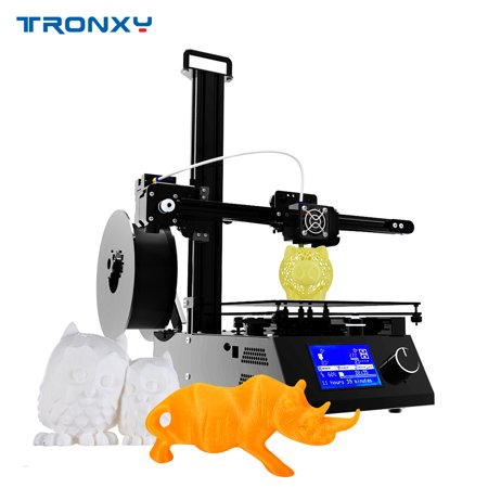 Tronxy High Precision 3D Printer Desktop Machine Kit with MK3 Heatbed LCD Screen Printing Size 220*220*220mm Support TF Card USB Port, Free 10m Testing Filament (Card Printer Machine)