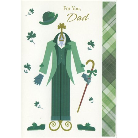 Designer Greetings Green Suit: Dad St. Patrick's Day