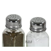 Salt & Pepper Shaker Set of 2 Stainless Steel and Clear Glass Classic Shakers