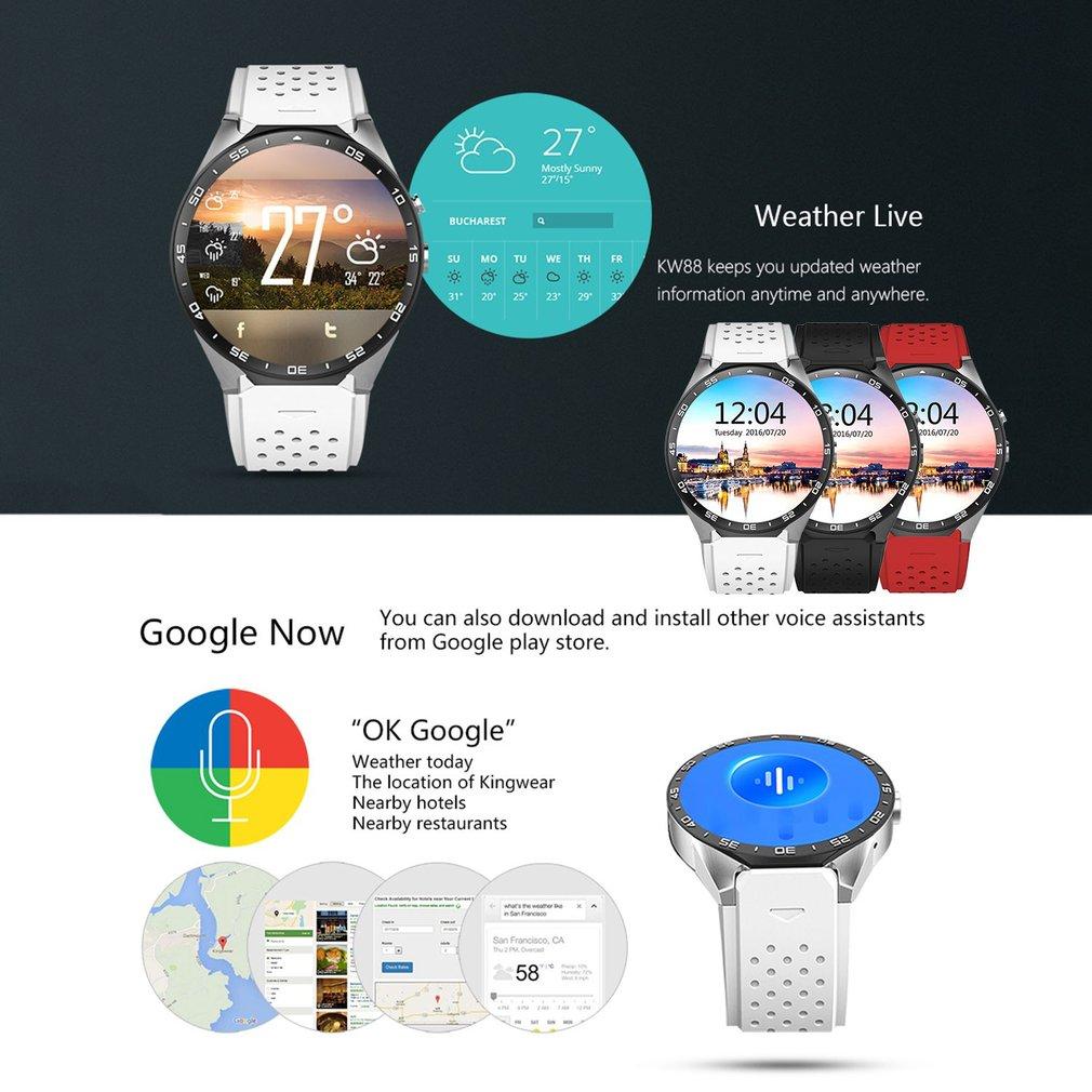 LEMFO KW88 Pedometer Heart Rate Monitor Anti-lost GPS Nav...