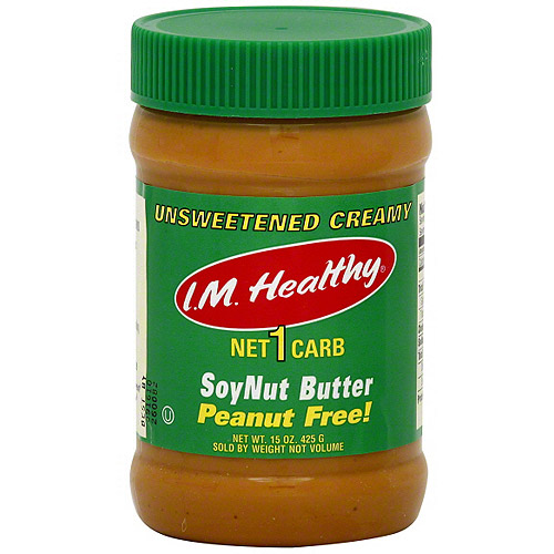 I.M. Healthy Organic No Salt Soynut Butter, 15 oz (Pack of 6)
