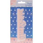 Ecstasy Crafts Joy Crafts Cut and Emboss Die, 5.5 by 1.5-Inch, Happy Birthday Edge