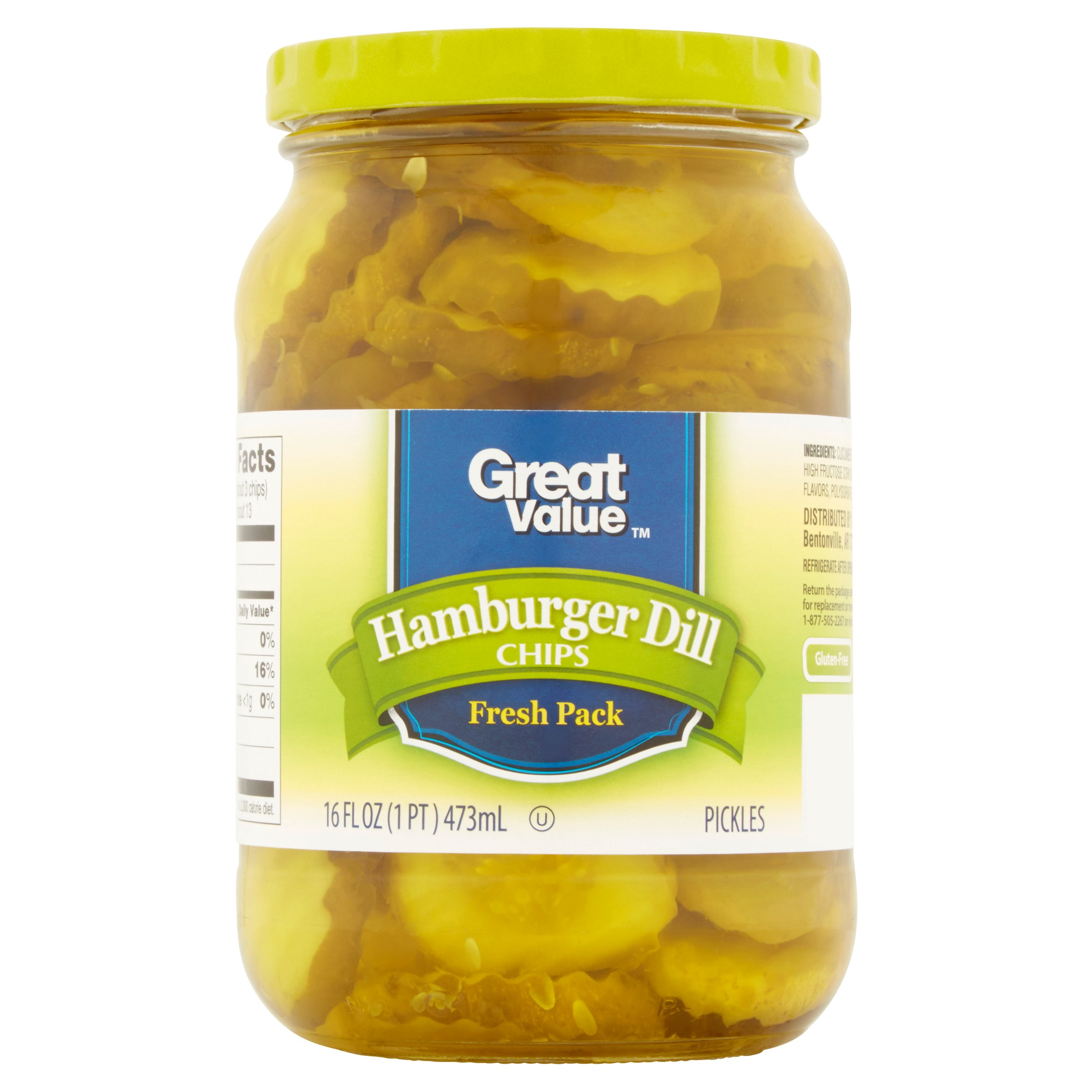 Great Value Hamburger Dill Chips Pickles 16fl oz by Wal-Mart Stores, Inc.
