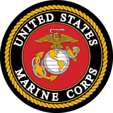 U.S. Marines Edible Icing Image Cake Top Decoration for 1/4 sheet cake (Cake Top Decorations)