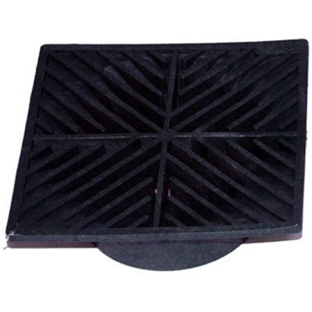 4 6 in. Black Square Structural Foam Polyolefin Grate ()