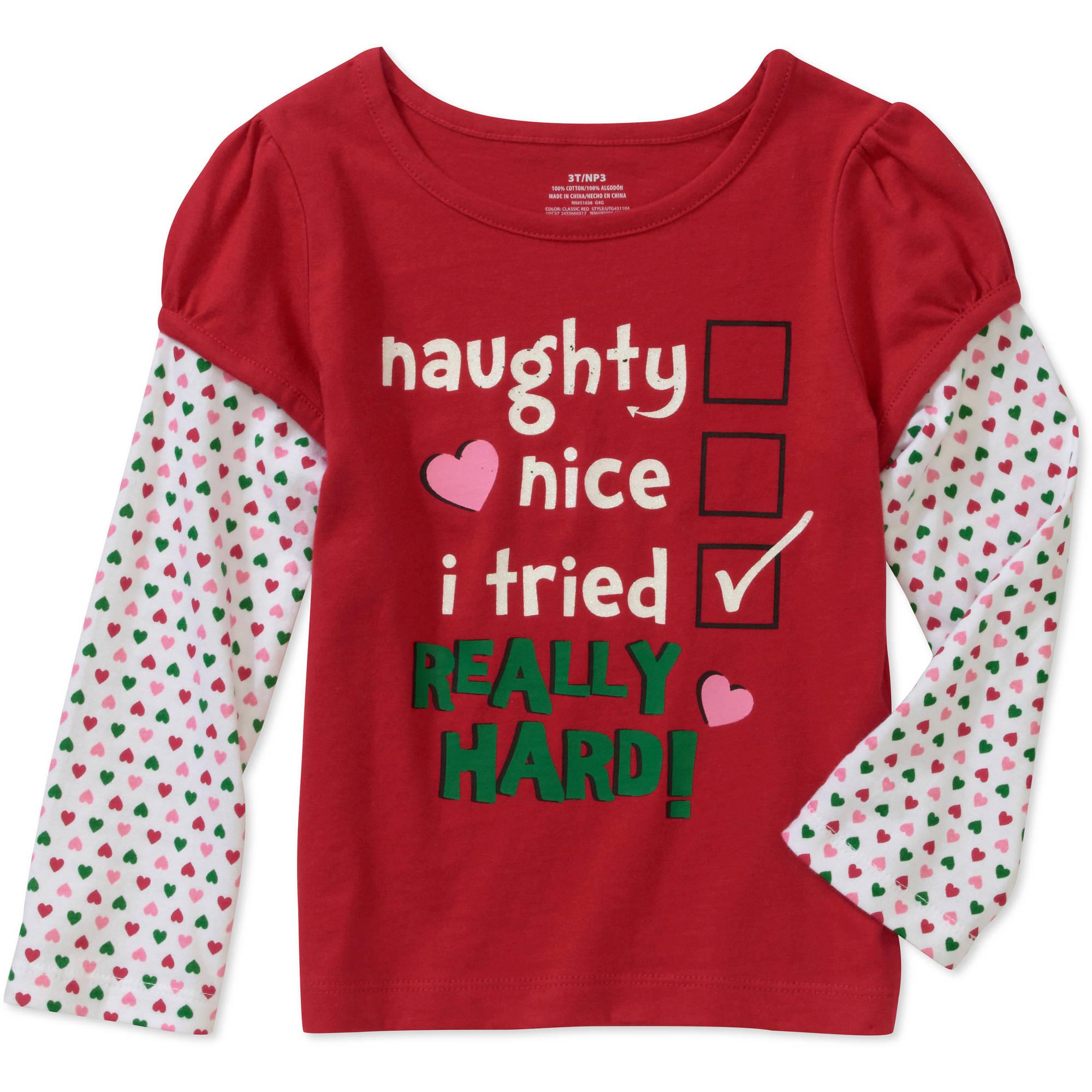 Baby Girls' Christmas Long Sleeve Tee