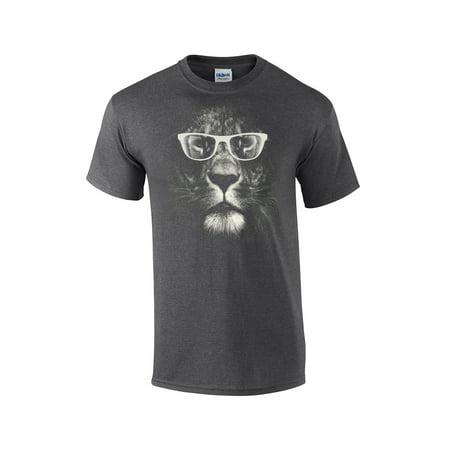 Lion T-Shirt Lion With Glasses (Lions Football T-shirt)