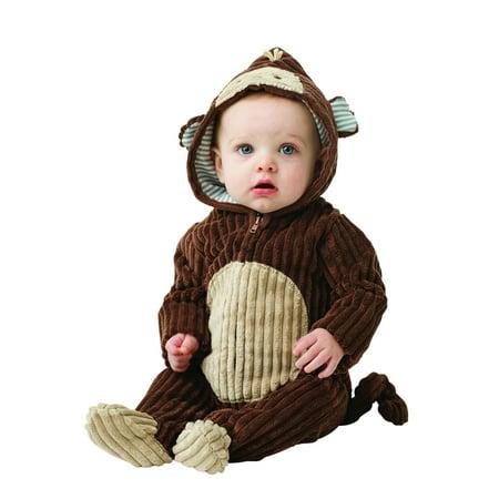 Baby Costume Monkey Bunting Newborn Halloween Costume 0-6 months](0-6 Month Baby Costumes)