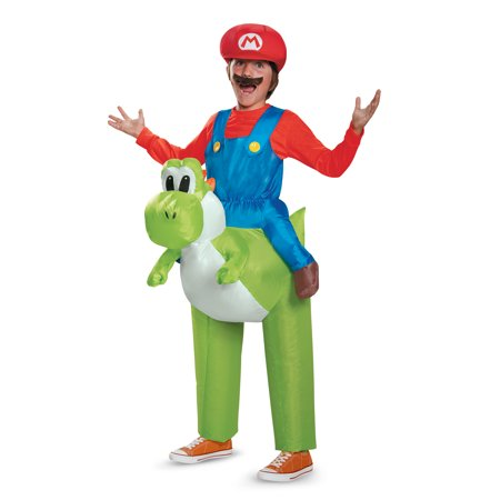 Mario Riding Yoshi Inflatable Child (One Size Child 7-8) Costume Super Mario Brothers Nintendo 85150CH - Mario And Yoshi Costume