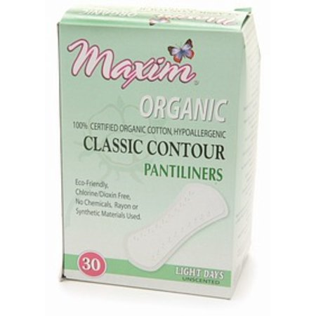 Maxim Hygiene Products Organic Classic Contour Pantiliners, Light Days, Unscented  30 ea (Pack of (Best Natural Feminine Wash)