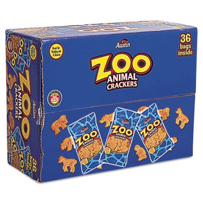 Kellogg'S 827545 Zoo Animal Crackers, Original, 2 oz Pack, 36 Packs/Box