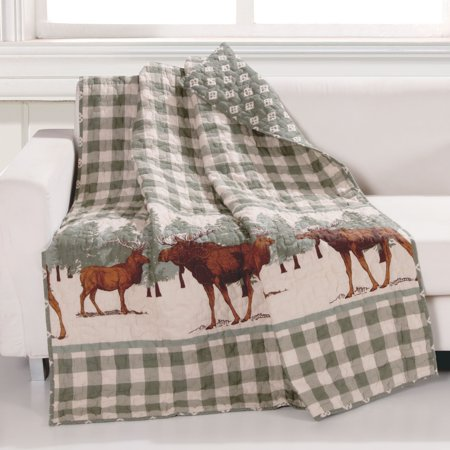 Global Trends Elk Grove Quilted Throw Blanket, 50x60-inch - Party City Elk Grove