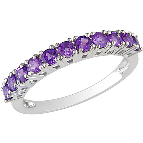 5/8 Carat T.G.W. Amethyst Fashion Ring in Sterling Silver