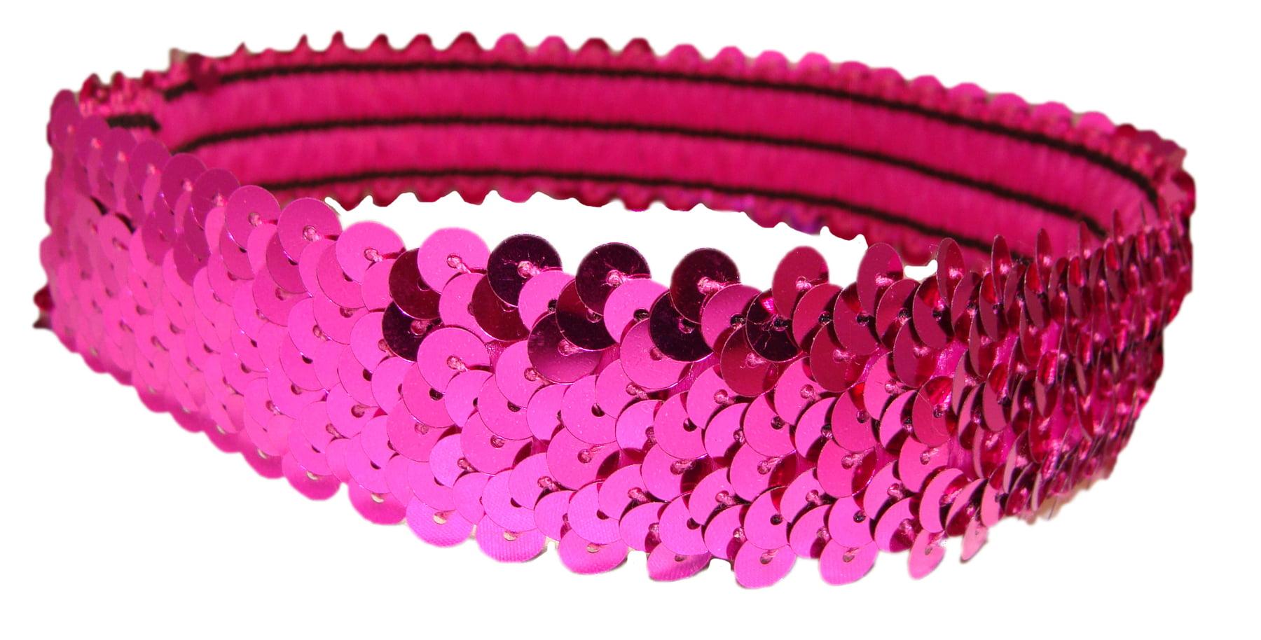 Kenz Laurenz - Kenz Laurenz Sequin Headband Girls Headbands Sparkly Hair  Head Bands Hot Pink - Walmart.com 657569f9c7e