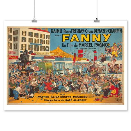Fanny Vintage Poster (artist: Dubout, Albert) Monaco c. 1950 (9x12 Art Print, Wall Decor Travel Poster) (1950 Decor)