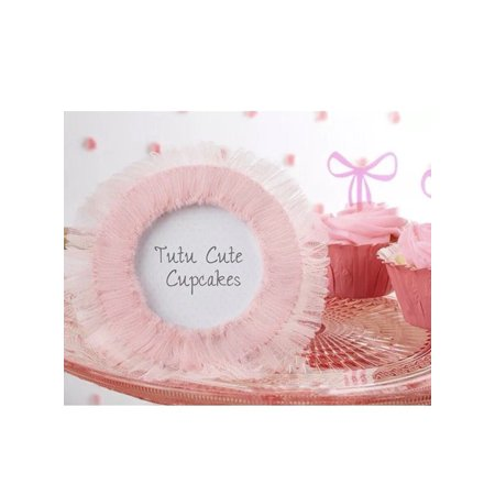 Tutu Cute Tulle Photo Picture Frames Ballet Baby Shower Favors 2.5in X 2.5in (Tutu Baby Shower Favors)