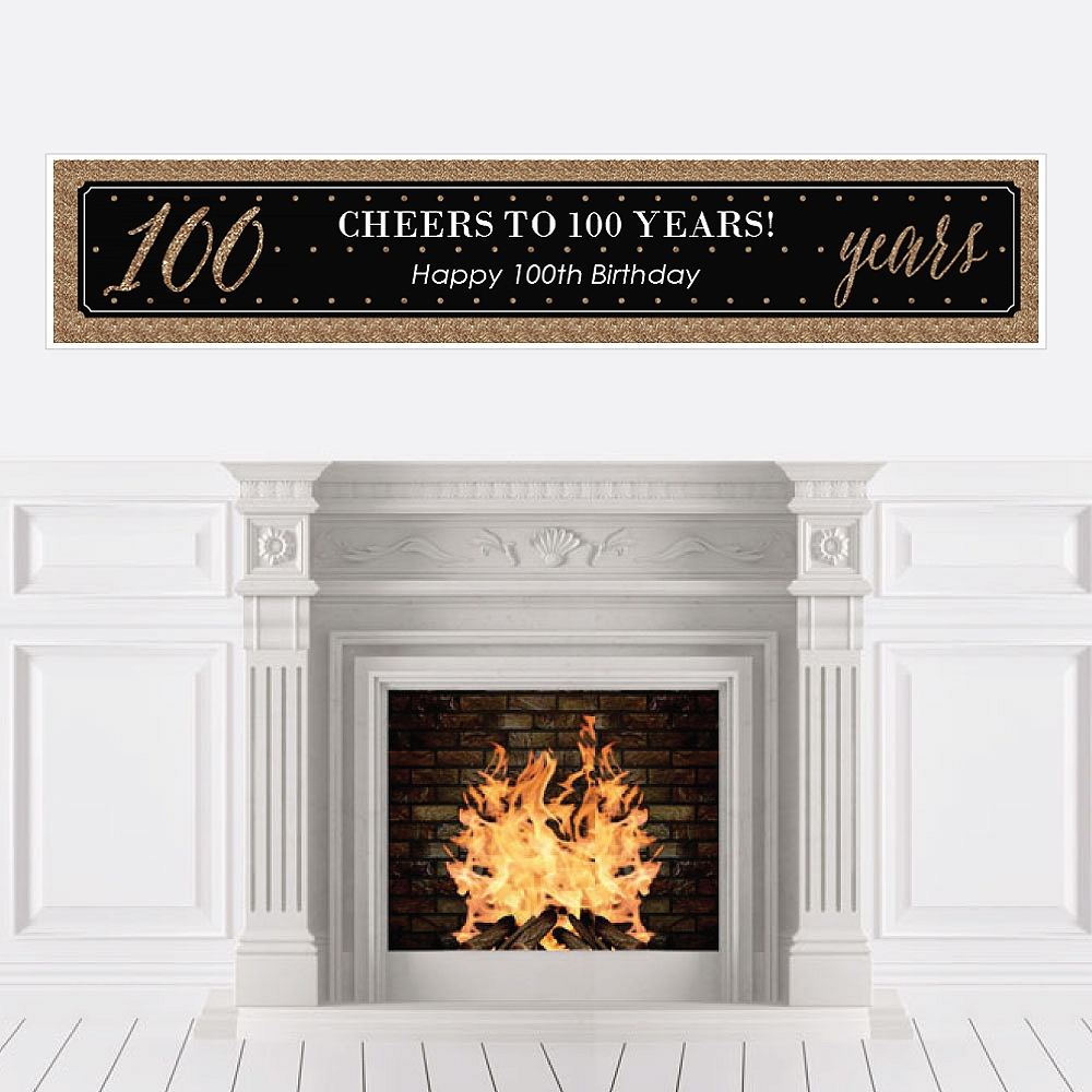 Chic 100th Birthday - Party Decorations Party Banner