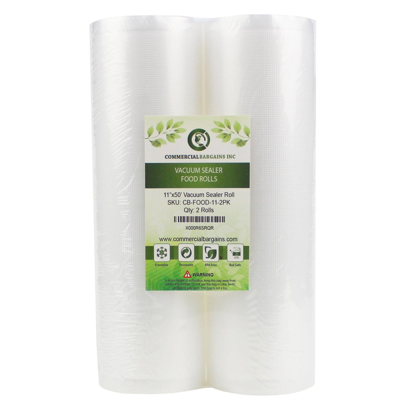 2 Foodsaver Compatible Jumbo Rolls 11-Inch-by-50-Foot Vacuum Food Sealer Bags 4