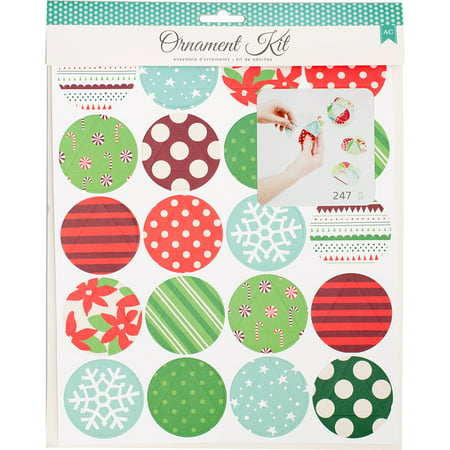 American Crafts Christmas Paper Craft Kit-Ornaments