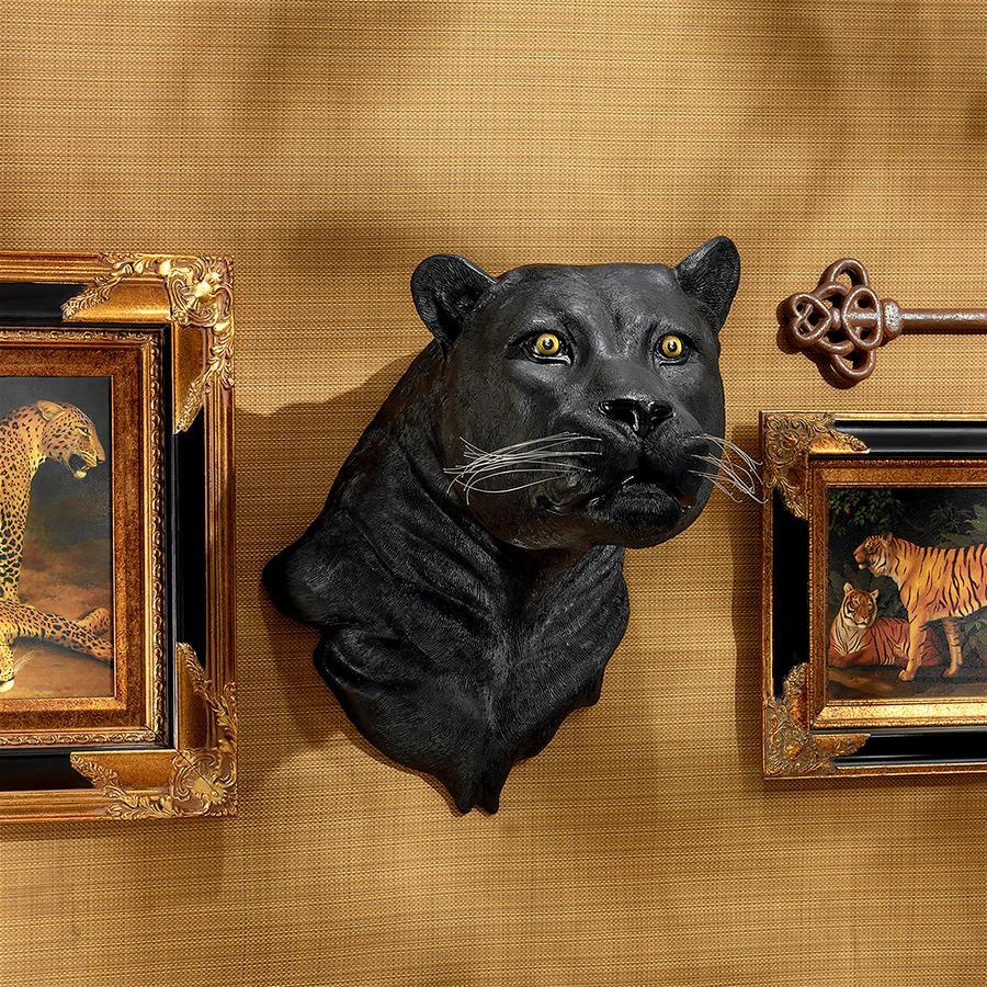 Shadow Predator Black Panther Wall Sculpture