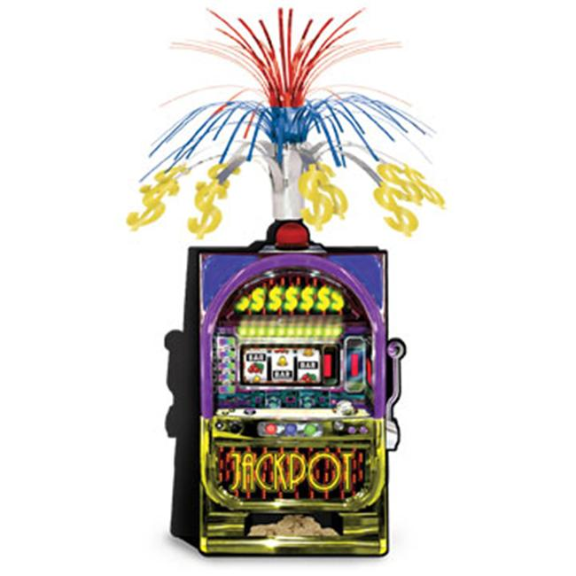 Casino Slot Machine Centerpiece - 15 inch Case Pack 12