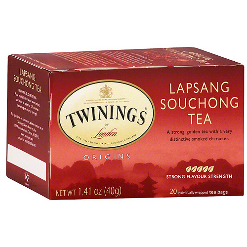 ***Discontinued by Kehe 07_20***Twinings Of London Origins Lapsang Souchong Tea Bags, 20ct (Pack of 6)