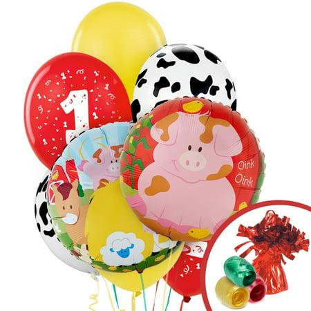Barnyard 1st Birthday Balloon Bouquet - Barnyard 2nd Birthday Party Supplies