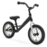 Firmstrong Kids' Balance Bike, 12 Inches, Matte Black
