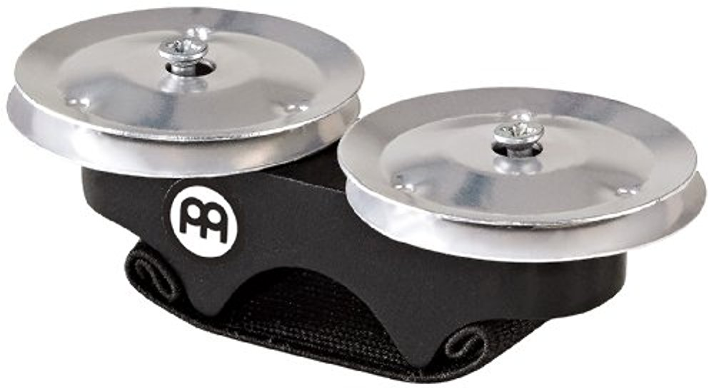FJS1A-BK Aluminum LS Finger Jingles for Cajon, Djembe, Bongos or Congas by