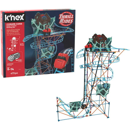 K'NEX Thrill Rides – Cobweb Curse Roller Coaster Building Set – 473 Pieces – Ages 9+ Construction Educational - Knex Roller Coasters