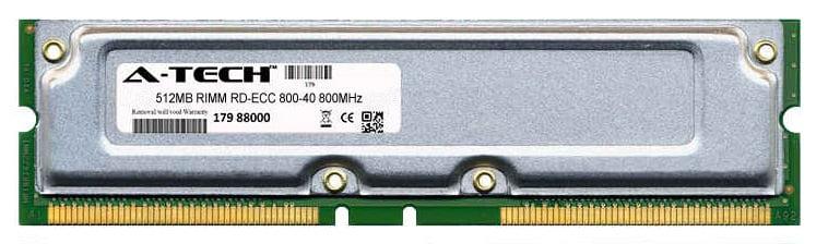 512MB Module 800-40ns 400MHz RD-ECC RD RIMM Server 184-pin Memory Ram