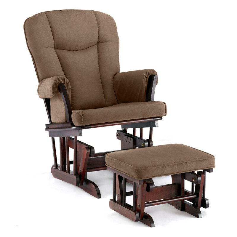 Shermag Glider and Ottoman - Espresso / Chocolate