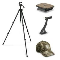 Vortex Optics Pro GT Tripod Kit with GT QR Plate and Binocular Adapter Bundle