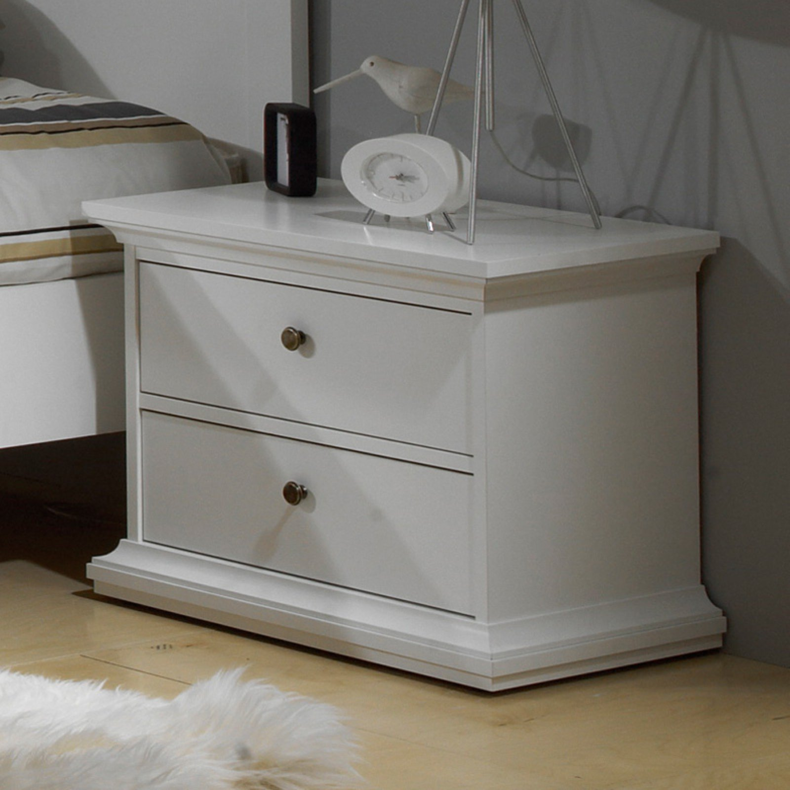 Sonoma 2 Drawer Nightstand - White