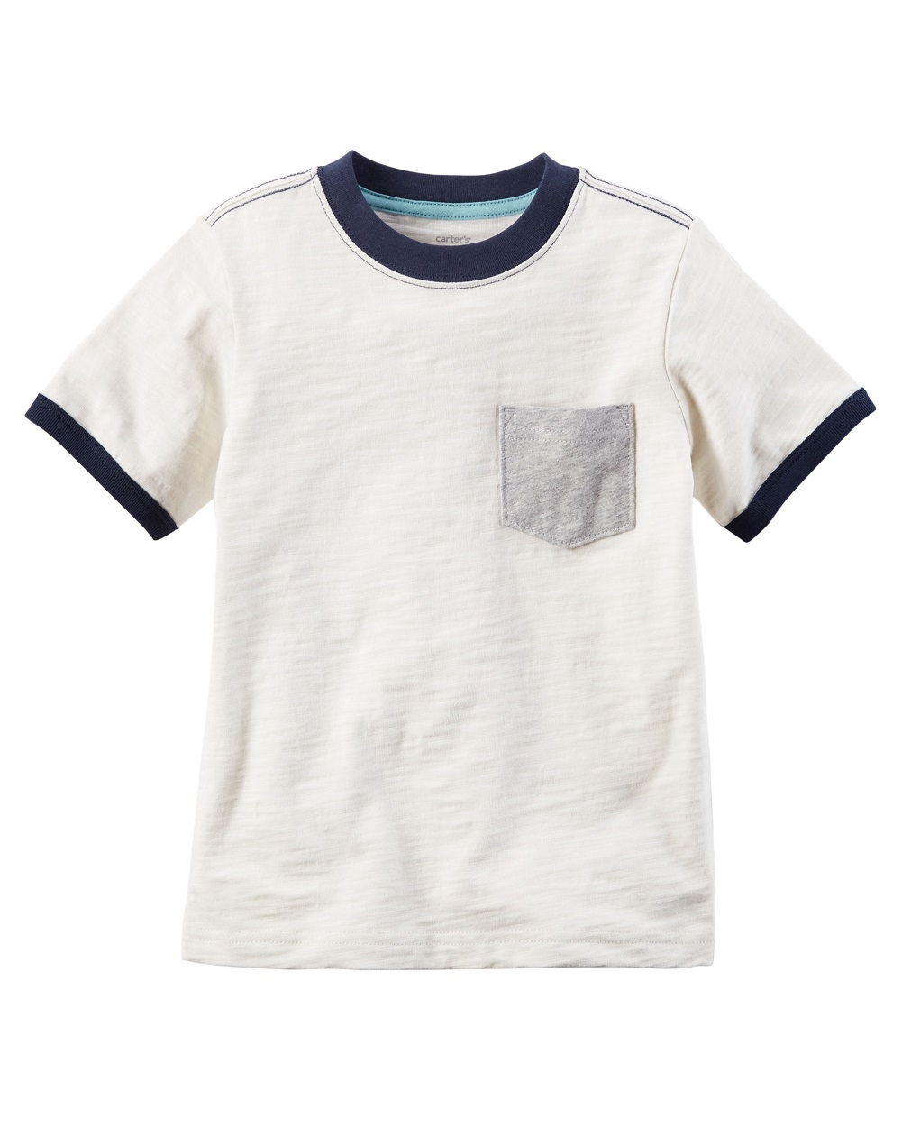 Carter's Little Boys' Pocket Ringer Tee, 6 Kids