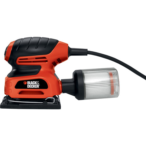 Black & Decker 1/4-Sheet Sander with Filtered Dust Collection