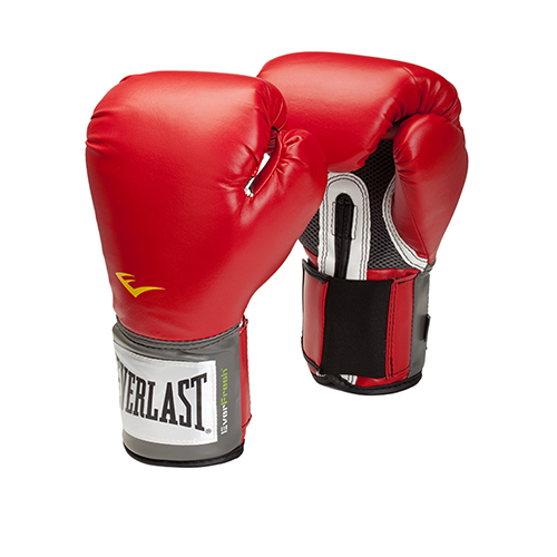 Everlast Pro Style Boxing Gloves, 14oz, Red