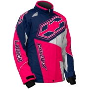 Castle X Launch SE G4 Youth Girls Snowmobile Jacket Navy/Hot Pink