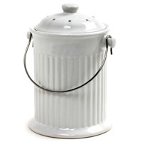 Norpro 1 Gal. White Compost Keeper Crock - White