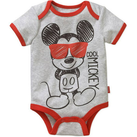 Mickey Mouse Newborn Baby Boys' Bodysuit