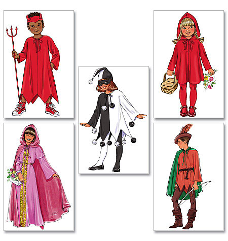 Childrens/Girls Classic Character Costumes-All Sizes in One Envelo