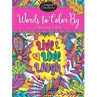 Cra-Z-Art Timeless Creations Coloring Book, Words to Color by, 64 Pages