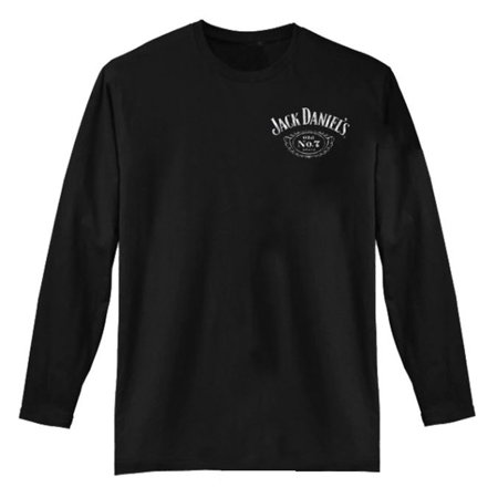 Jack Daniels Men's Long Sleeve Black Label T-Shirt -100% Cotton - - Jack Daniels Shirt In Store